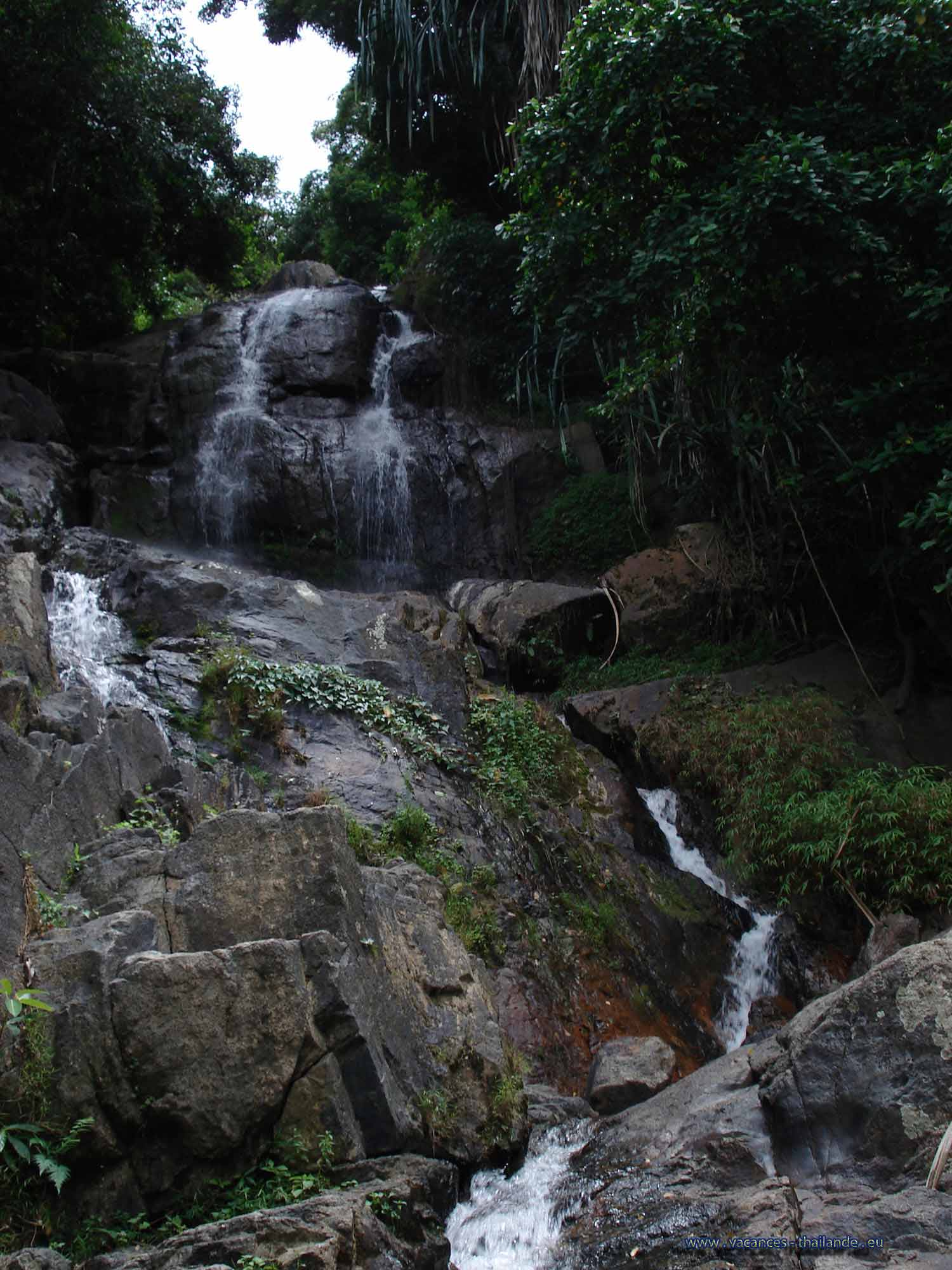 very beautiful waterfalls in the jungle  for rent for your holidays in Thailand and on the island of Koh Samui