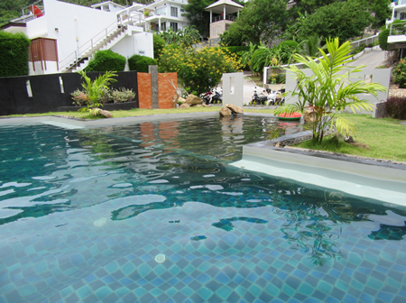 english photo 46, large private pool for the residence at 2 meters of VILLA PARIS just behind